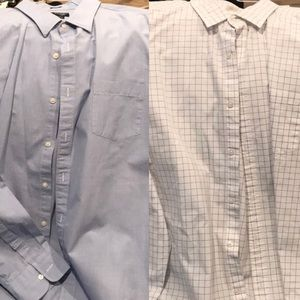 2 like new J. Crew button down shirts